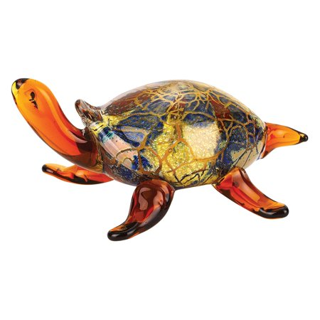 Badash Firestorm Murano Style Art Glass Turtle Figurine