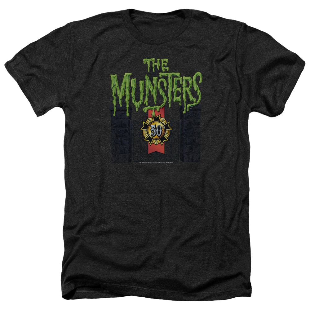 Munsters 50 Year Logo Mens Heather Shirt