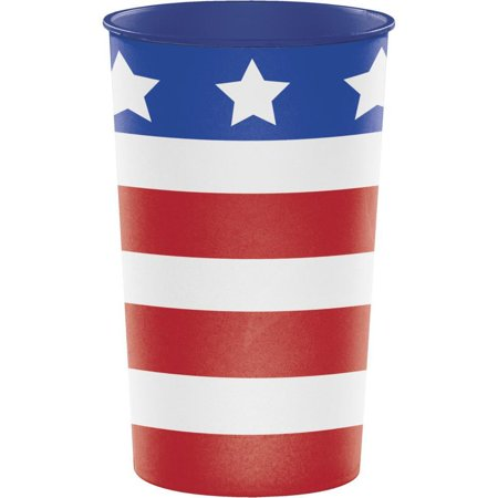 Creative Converting Patriotic Printed Plastic Cup 22Oz.