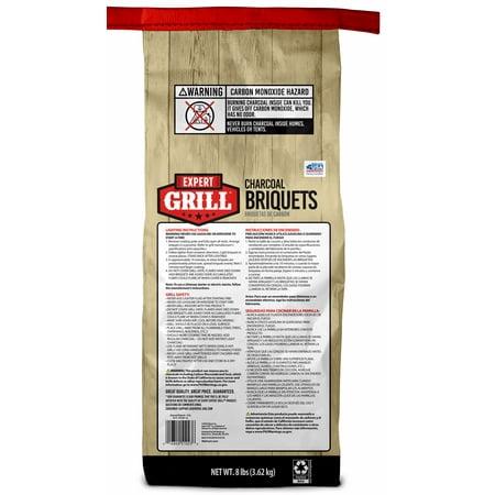 Expert Grill Charcoal Briquets, Charcoal Briquettes, 8 Lb