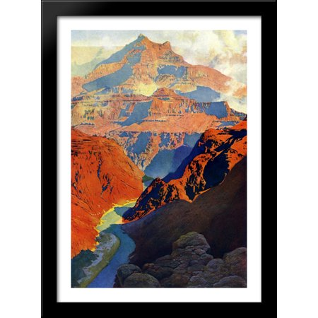Grand Canyon 28x40 Large Black Wood Framed Print Art by Maxfield Parrish