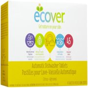 Ecover  Automatic Dishwasher Tablets  Citrus Scent  45 Tablets  31 7 oz  0 9 kg