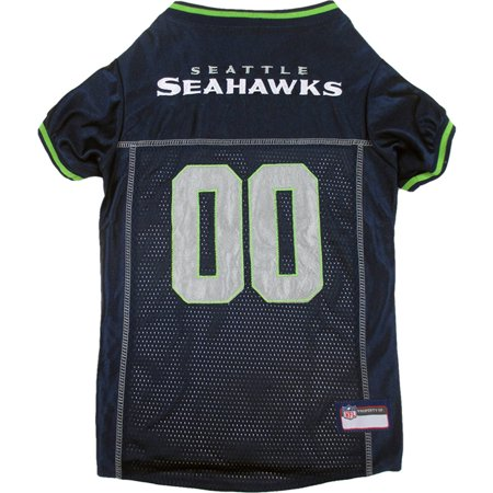 Pets First NFL Seattle Seahawks Premium Dog Jersey, 4 Sizes - Seattle Seahawks Pen