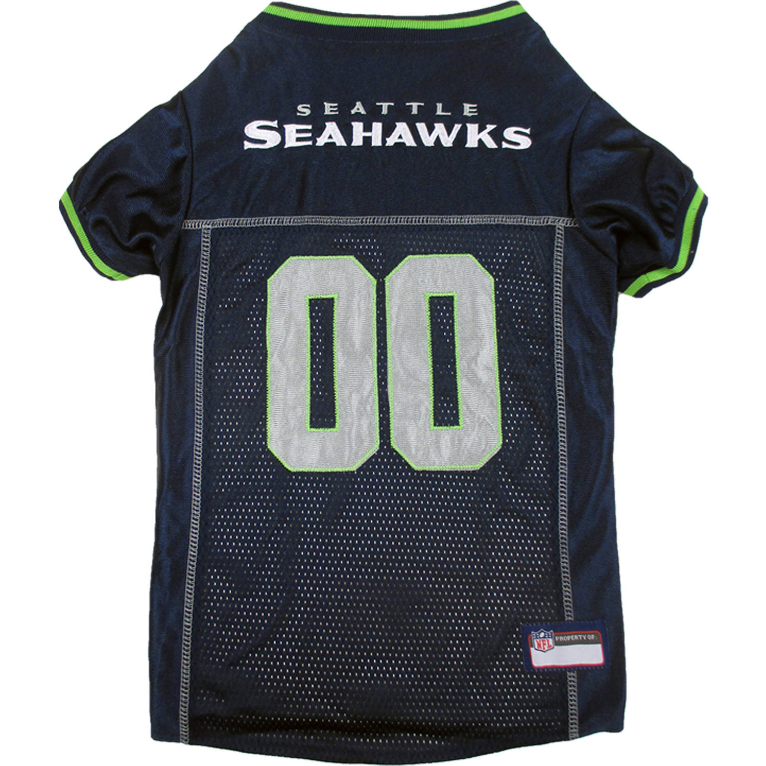 Pets First NFL Seattle Seahawks Premium Dog Jersey, 4 Sizes Available