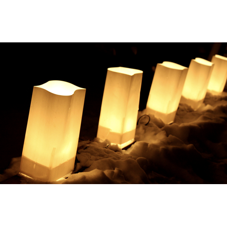 100 Tealight Candles + 50 Luminary (Relax Luminary Candle)