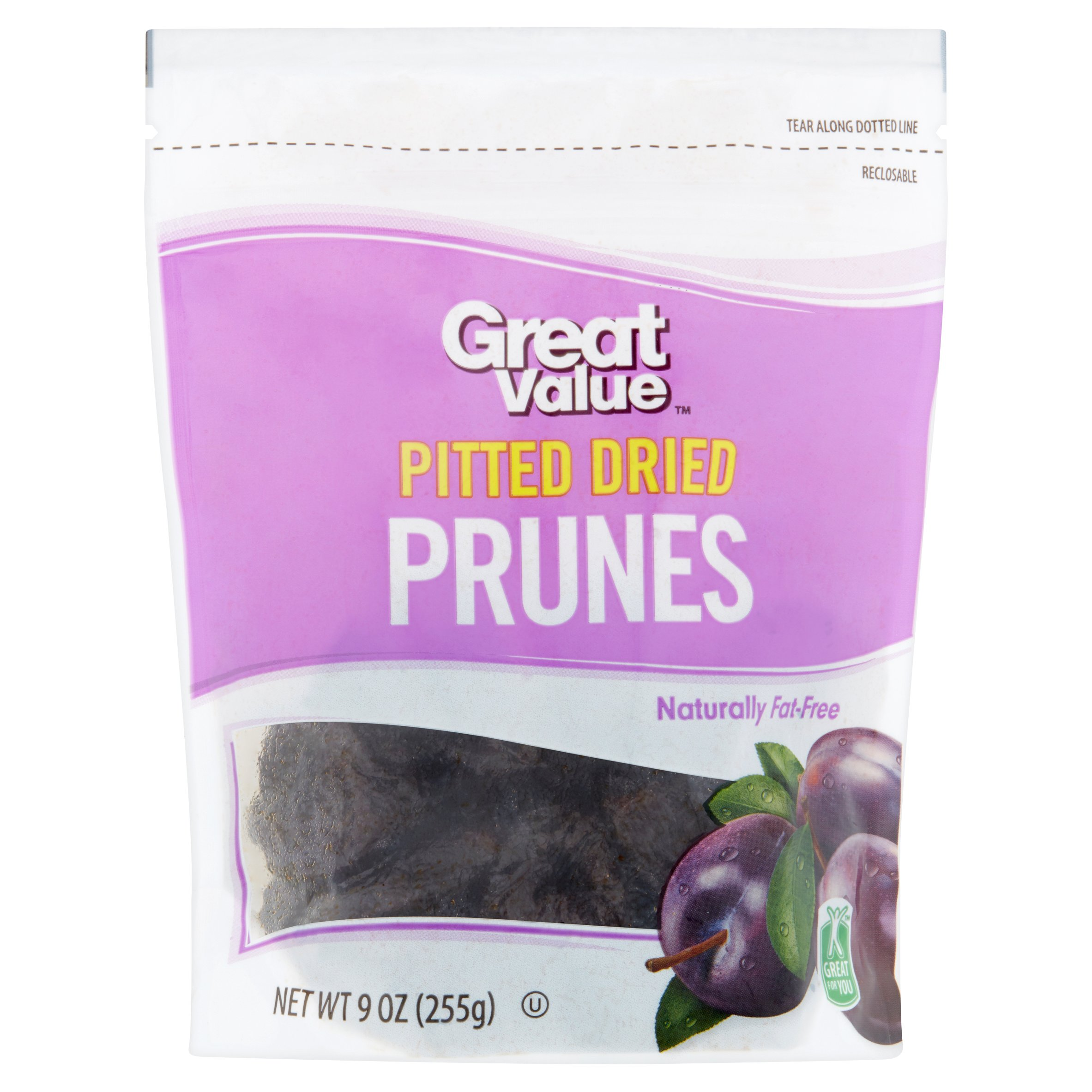 Great Value Pitted Dried Prunes, 9 oz