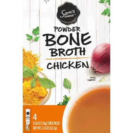 Sam's Choice Powder Bone Broth, Chicken, 4 Sticks