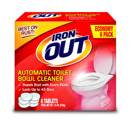 Iron Out Automatic Toilet Bowl Cleaner, 6 Tablets (Best Cleaner For Cast Iron Tub)