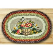 Earth Rugs 65-426AC Oval Patch Rug, Apple Chickadee