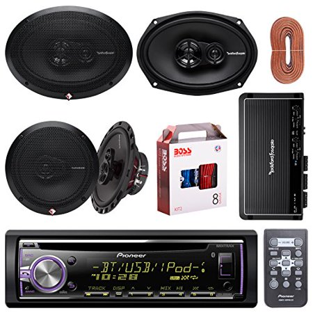 car audio bundle combo package pioneer dehx6800bt bluetooth cd receiver 2x rockford fosgate. Black Bedroom Furniture Sets. Home Design Ideas