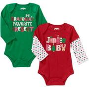 Christmas Newborn Baby Girl Seasonal Bod