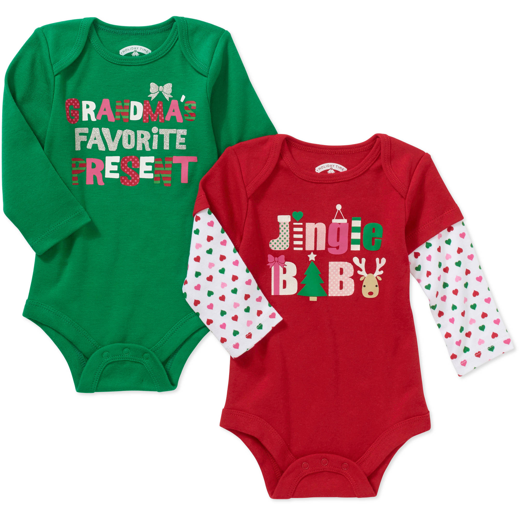 Christmas Newborn Baby Girl Seasonal Bod