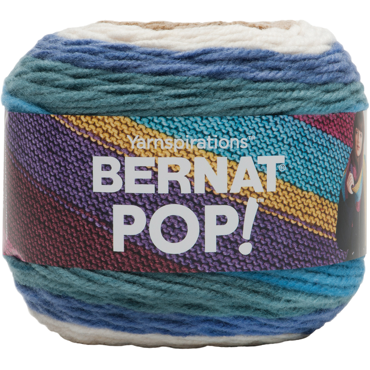 Bernat Pop! Yarn, 140g, Hot Chocolate