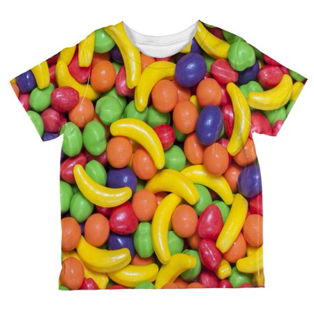 Halloween Fruit Candy All Over Toddler T Shirt - Halloween Inspired Fruit