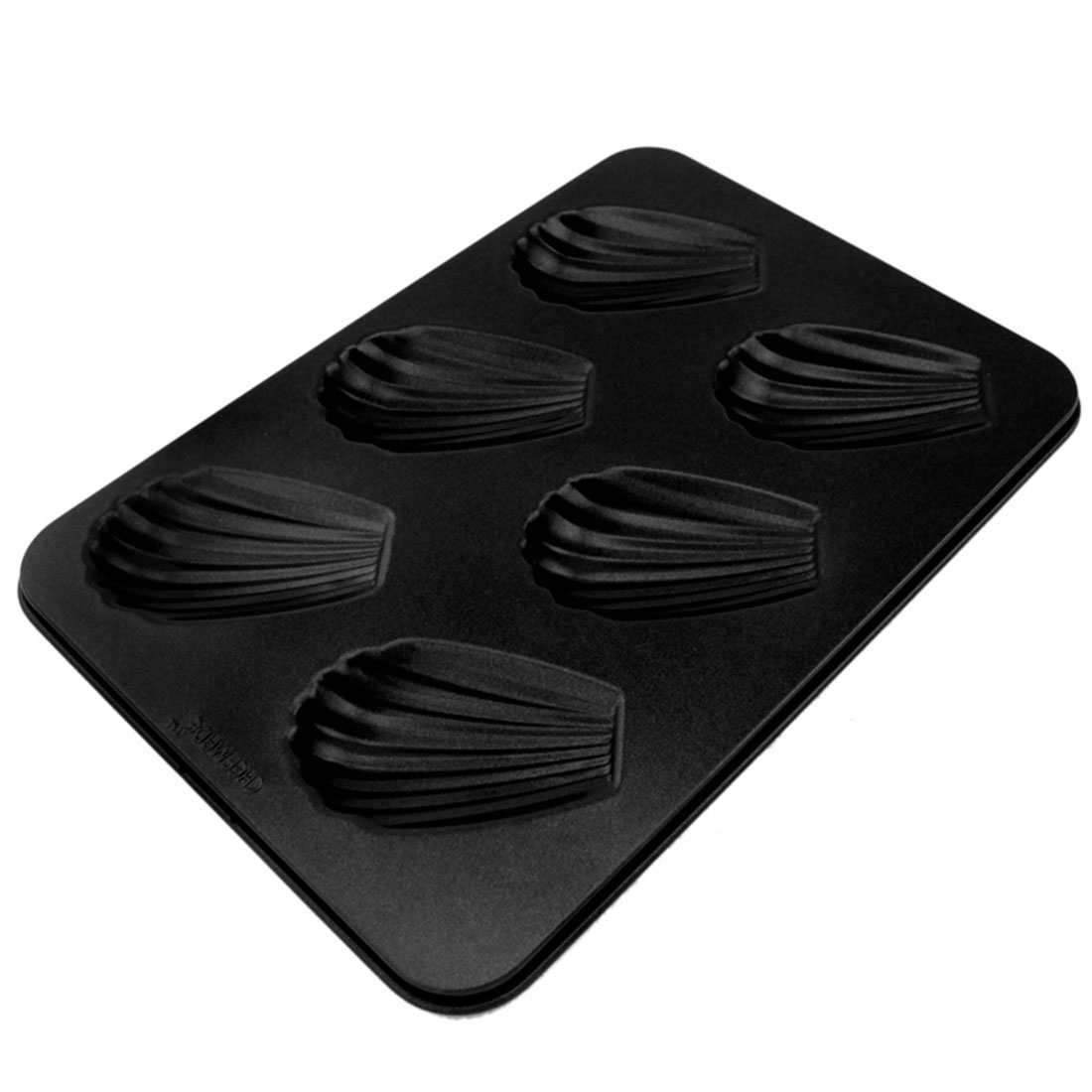 Cupcake Bread Cookie 6 Shell Shaped Compartments Baking Mold Mould Bakeware Pan