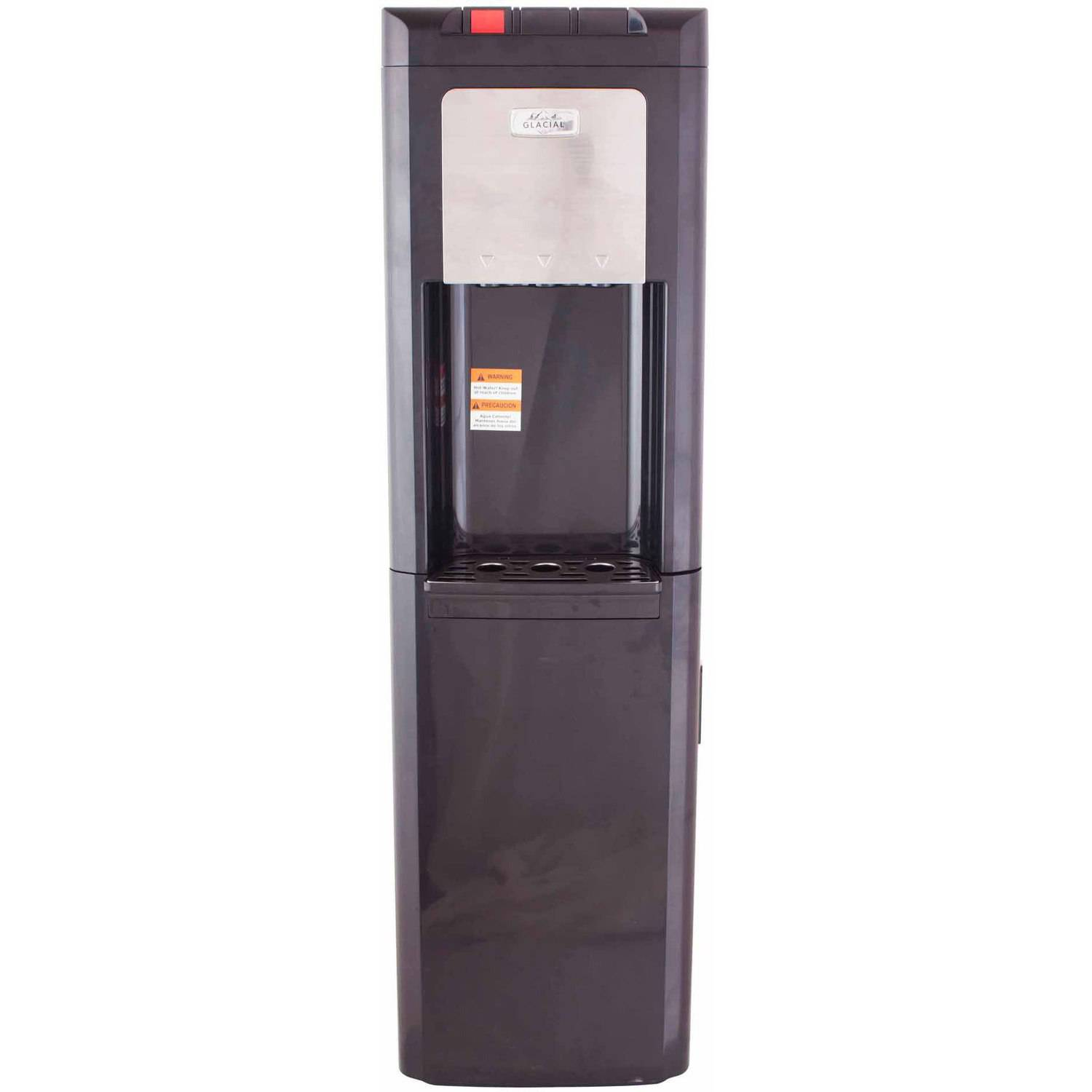 Glacial Water Dispenser Water Cooler and Refrigerator, Black Top-Load