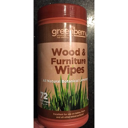 Greenberry Wood and Furniture Wipes in All Natural Botanical Lemongrass, EASY CLEAN-UP: Fast, easy and convenient way to clean up everyday household dirt and spills.., By Greenbone ()