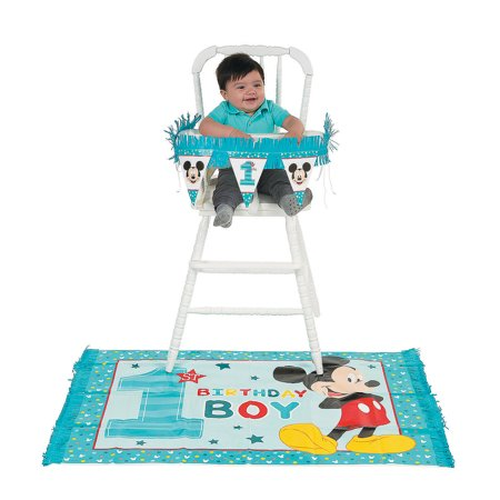 Mickey Mouse High Chair (Mickey'S Fun To Be One High Chair Kit - Party Supplies - 2)