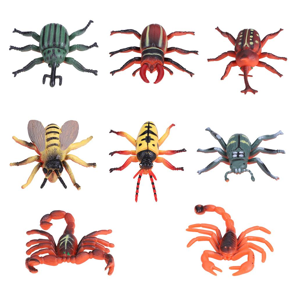 FAGINEY Plastic Insect Toy Set, Simulation Insect,8pcs/set ...