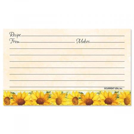 Sun Flowers Recipe Cards- 3