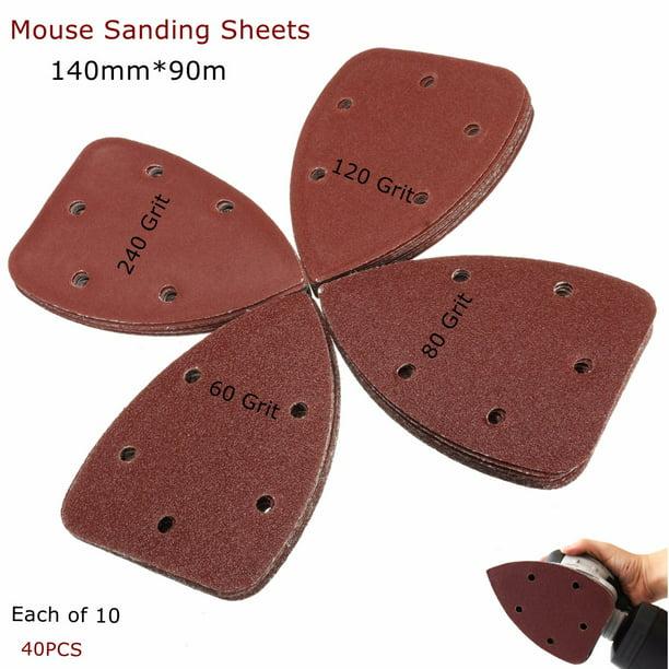 40 X Mouse Sanding Sheets Black /& Decker Mouse Palm Sander Sandpaper New UK