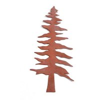 Rusted Tin Pine Tree - 4-1/8 Inch - 2 Pieces