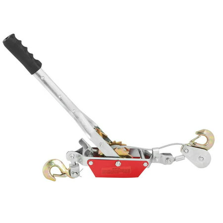 WALFRONT 2/4T Wire Rope Ratchet Hand Power Puller Tighten Tool Mini Tightener Double Hook Lifting Tool, Gear Winch Puller, Hand Power Puller (Wall Puller Tool)