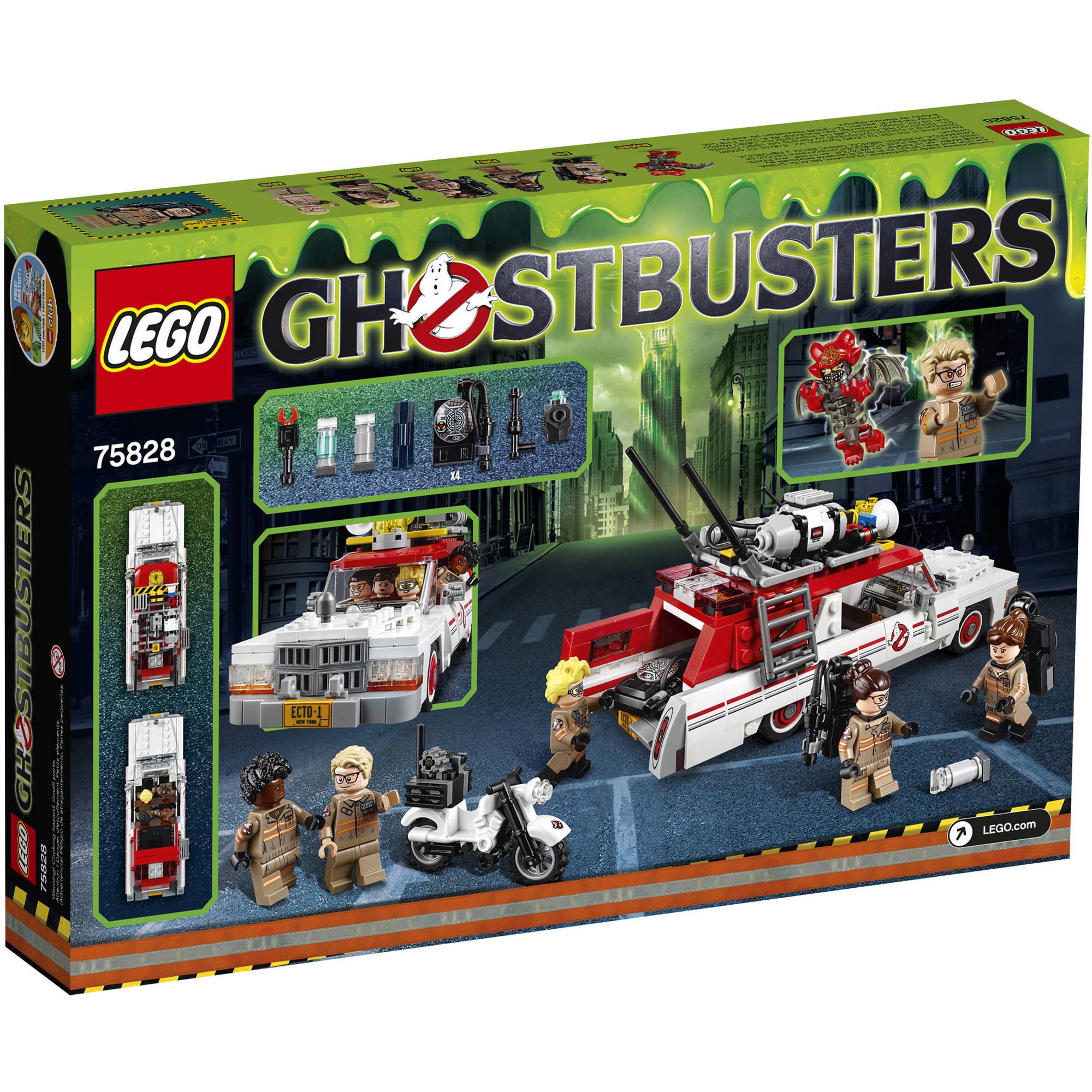 Lego Ghostbusters 2016 Ecto 1 And Ecto 2 Building Set Walmartcom - lego ghostbusters coloring pages
