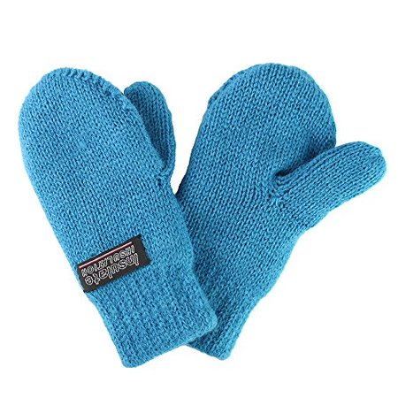 Infant baby Toddler Knitted Fleece Lined Mittens (Small (4-12 Months), Teal Blue) Infant Fleece Mittens
