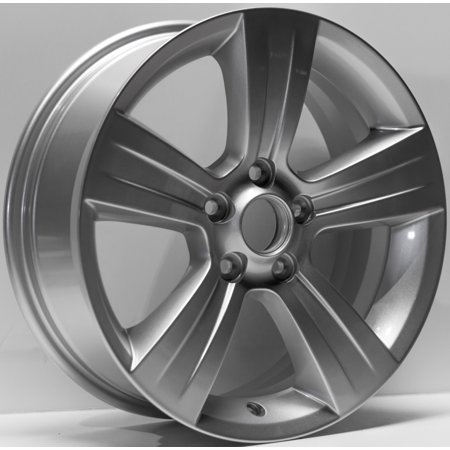 "2011-2017 Jeep Patriot Compass Replacement Wheel 17""x6.5"" 5 Spoke, Silver Painted"