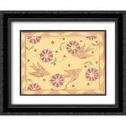 Pink Bird 2x Matted 24x20 Black Ornate Framed Art Print by DiPaolo, Dan