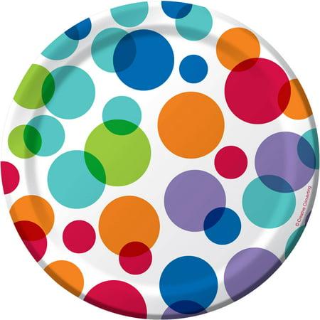 (5 Pack) Creative Converting Rainbow Dots 7