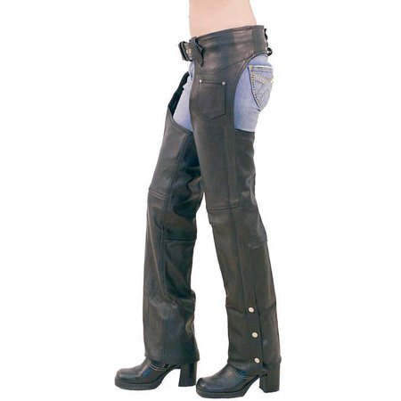 Unisex - Basic Heavy Leather Chaps (Ladies Leather Chaps)