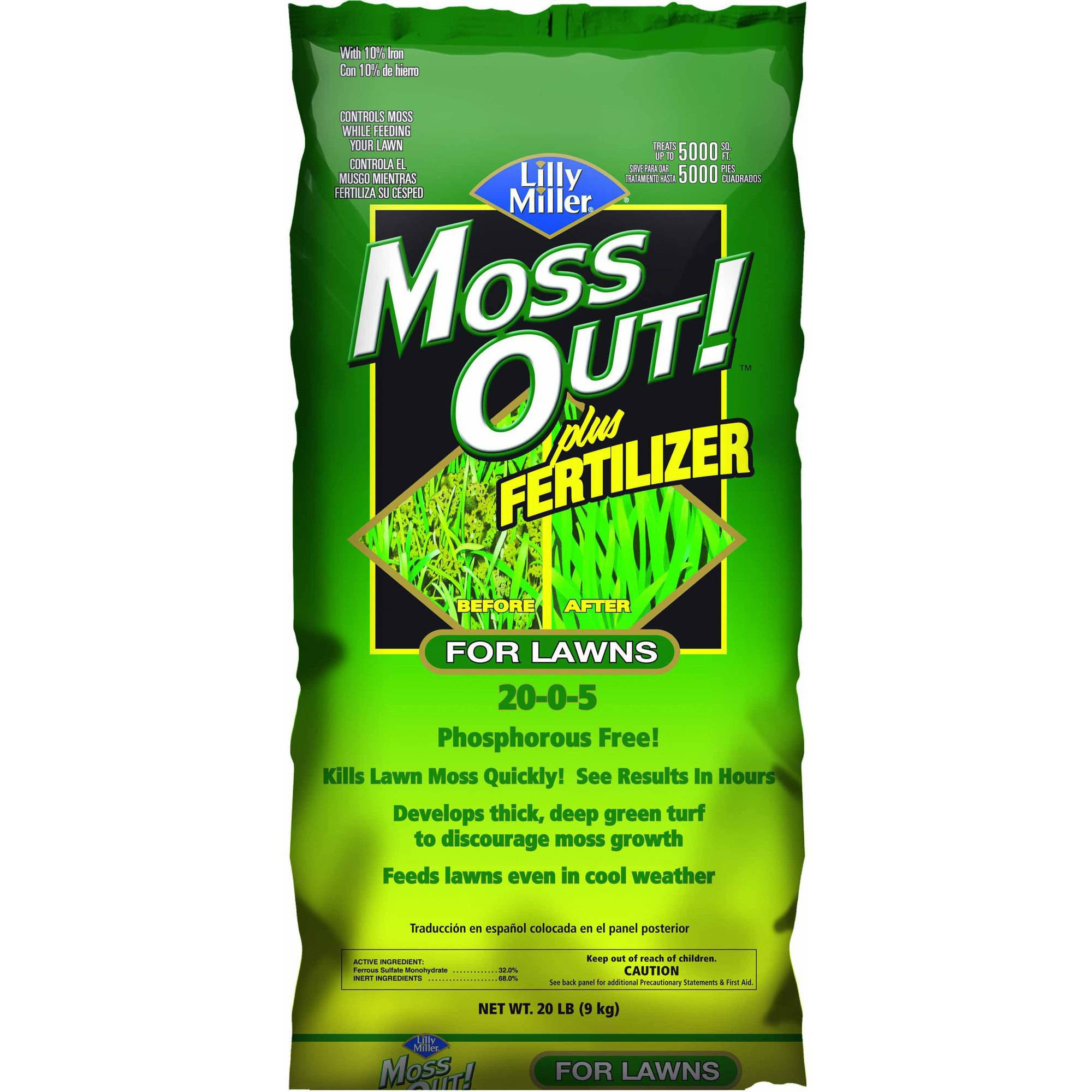 Lilly Miller 20-Pound Ready-to-Use Moss Out Plus Fertilizer