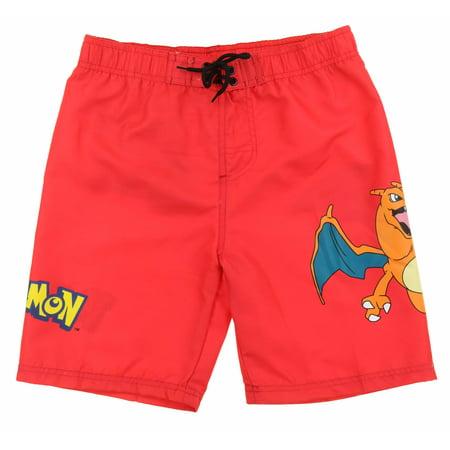 fa78db12ae In Gear - InGear Boys Pokemon Character Swim Trunk Shorts (Charizard (Red),  Size 12/14) - Walmart.com