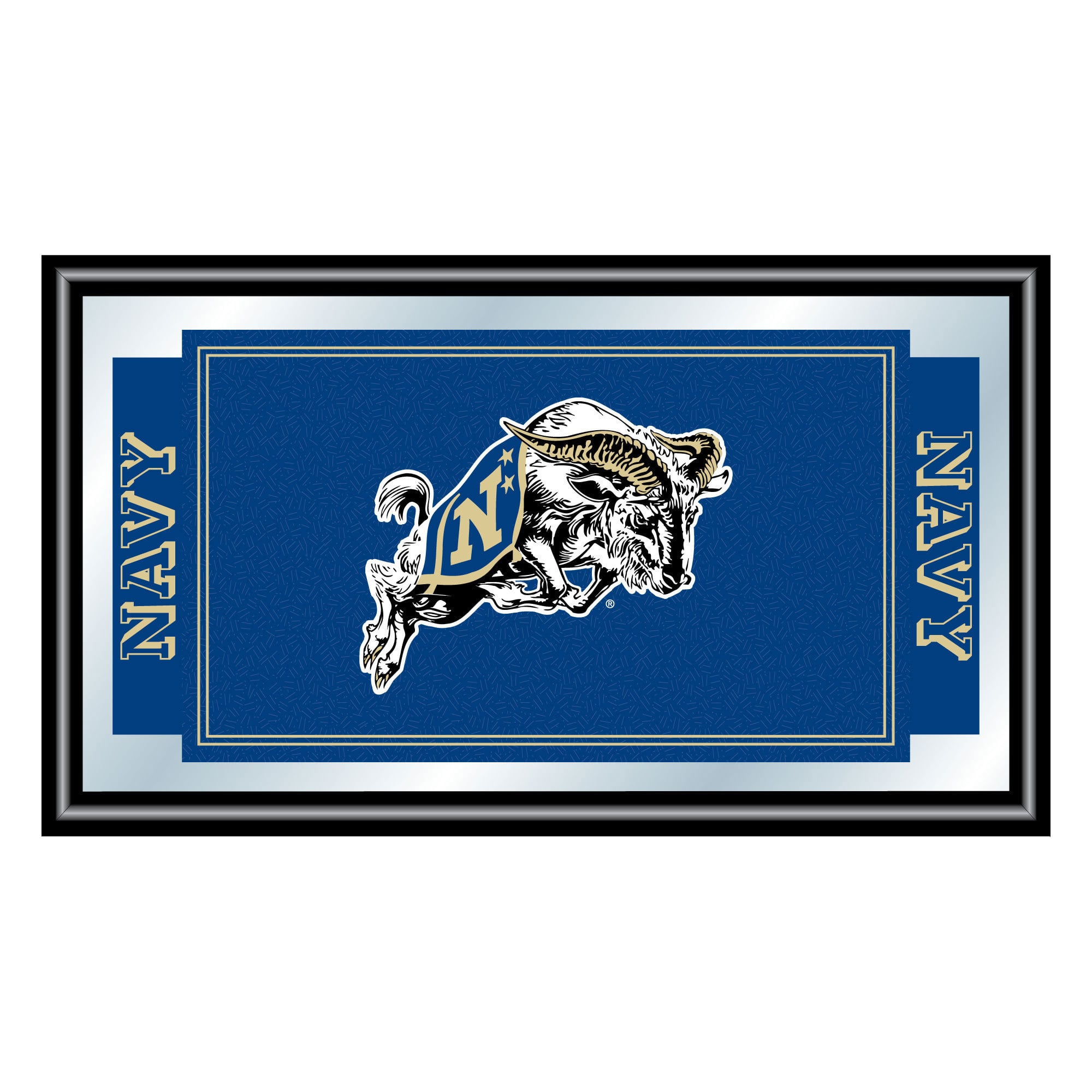Trademark Gameroom United States Naval Academy Logo and Mascot Framed Mirror