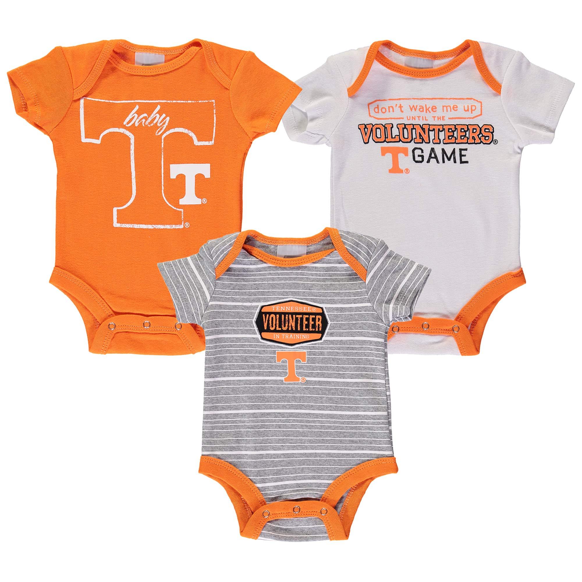 Newborn & Infant Russell Tennessee Orange Tennessee Volunteers Three-Pack Bodysuit Set