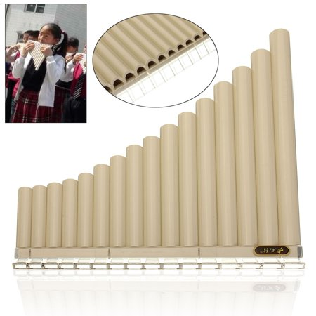 10 Mm 2 Flute - Beginners Pan Flute 16 Pipes Music Instrument Panpipe Easy Learn Awesome New