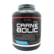 Ultimate Nutrition Carnebolic Beef Protein Isolate Powder with 0 Carbs 0 Sugar and 0 Fat, Blue Raspberry, 60 Servings
