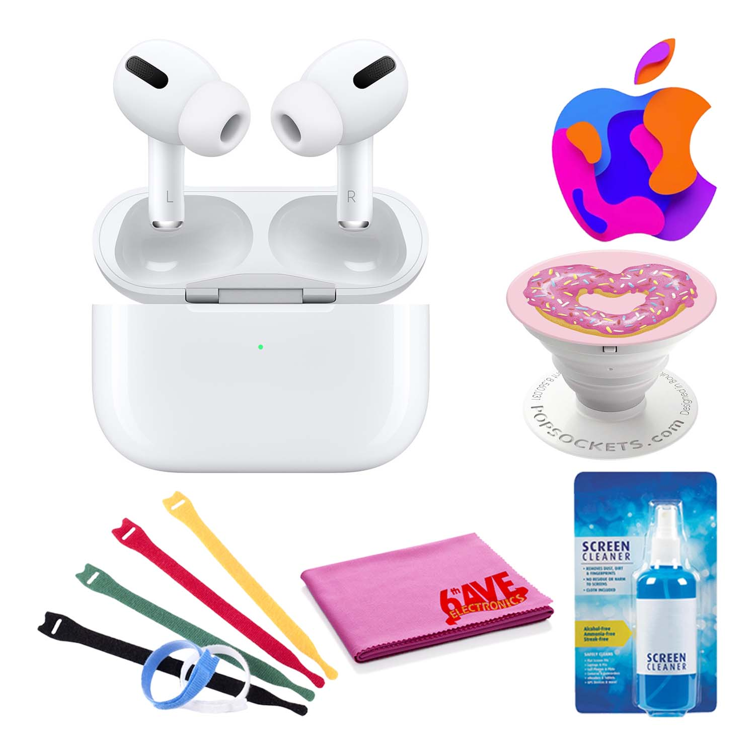 Apple Airpods Pro With Wireless Charging Case Bundle Popsocket