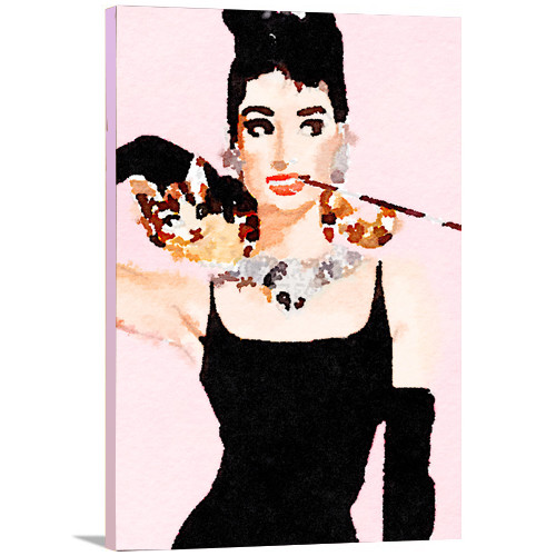Artzee Designs 'Modern Audrey Hepburn Watercolor' Painting Print on Wrapped Canvas