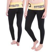 Pittsburgh Pirates Women's Knit Leggings - Black