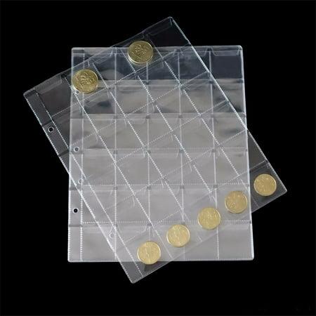 30 Pockets Plastic Coin Holders Storage Collection Money Album Case - image 6 de 6