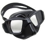 Black Spearfishing Free Dive Ultra Low Volume Comfort Fit Silicone Dive Mask