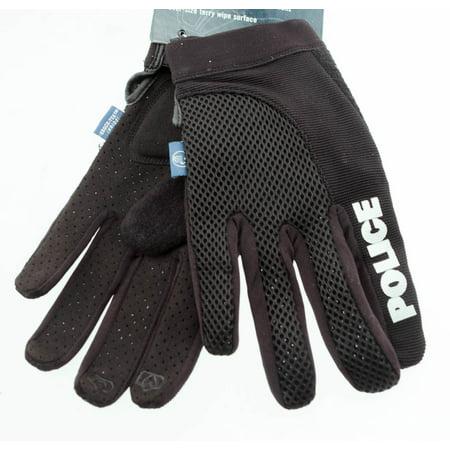 SPENCO POLICE X-Small Cycling Black Bike Gel Padded Full Finger Gloves NEW Spenco Cycling Gloves