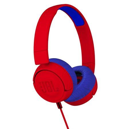 JBL JR 300 Kids On-Ear Headphones with Safe Sound Technology (Red)