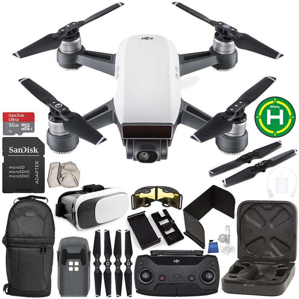 DJI Spark Portable Mini Drone Quadcopter (Alpine White) + DJI Spark Remote Controller EVERYTHING YOU NEED Starter Bundle