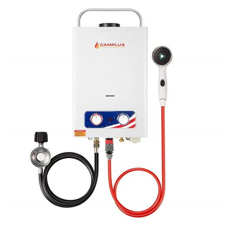 Camplux Pro BD158 6 Litre 1.58 GPM Pro Series Outdoor Portable Tankless Gas Water Heater,