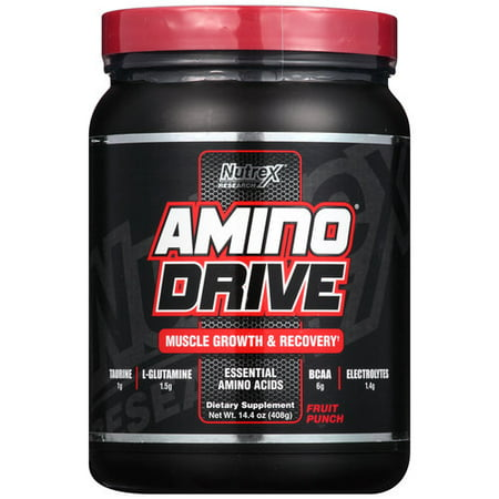 Nutrex Research Amino Drive Fruit Punch Powder Dietary Supplement  14 4 Oz