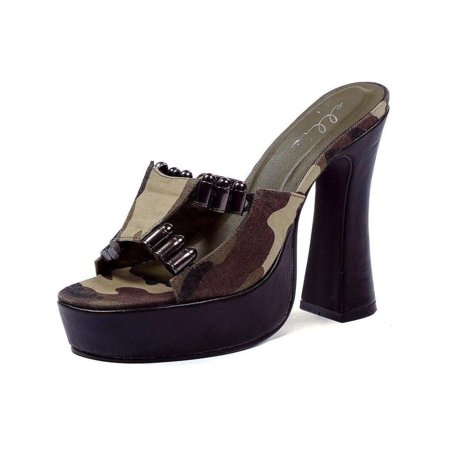 b0bc403a7ab55 Ellie - Ellie Shoes E-557-Army 5 Heel with Camo fabric and faux bullet  decor CAML / 11 - Walmart.com